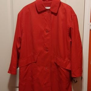 Red London Fog Oversized Jacket Sz. XS